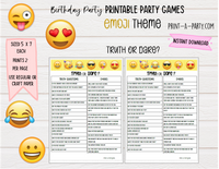 GAME BUNDLE: Birthday Party Game 6 Pack - INSTANT DOWNLOAD - Emoji - great for Tween/Teen parties