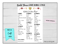 GAME BUNDLE Bridal Shower Game Bundle 6 Pack INSTANT DOWNLOAD - Golden Arrow