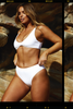 Curve Model Bree McCann in Code B White Bikini shot by photographer Josie Clough