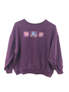 Embroidered Flowers Crewneck