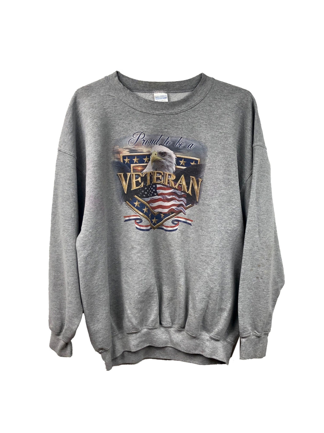 Proud to Be a Veteran Eagle Crewneck