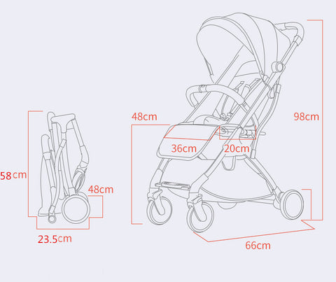 Foldable Travel Baby Stroller - easeable.com