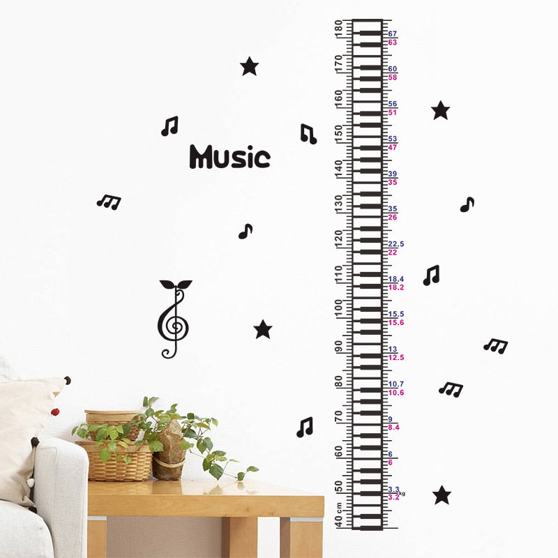 Musical Notes Growth Chart