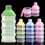Portable Baby Food Bottle Container with Four Levels