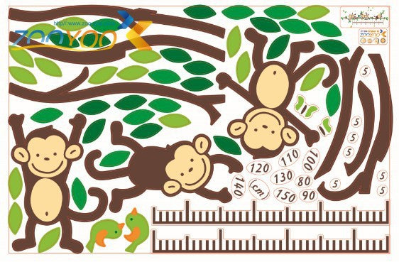 Monkeys on a Branch Growth Chart