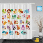 Learn the Alphabet with Animals Shower Curtain