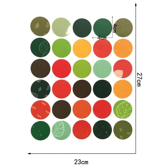 Colorful Dots Wall Sticker