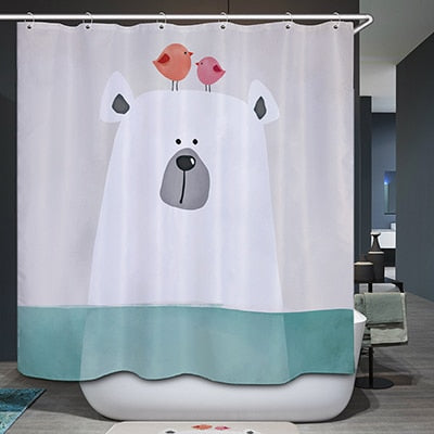 Snorkeling Hippo Shower Curtain
