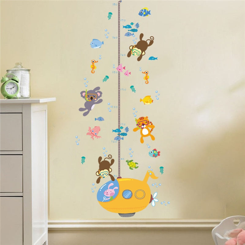 Adorable Underwater Animals Wall Growth Chart