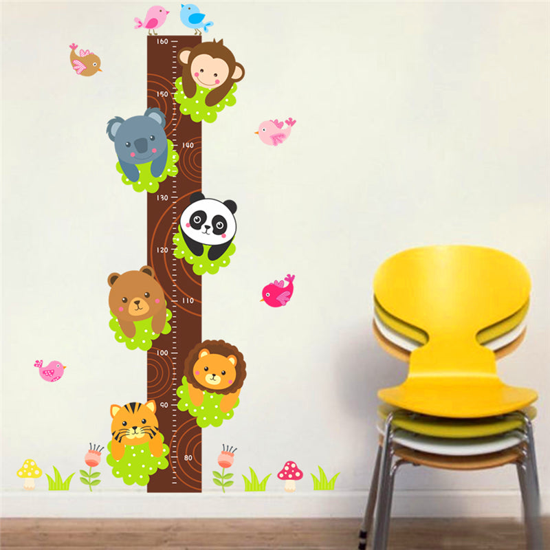 Animals in a Tree Wall Growth Chart
