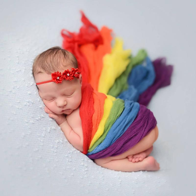 Rainbow Striped Wraps for Newborn Photos