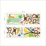 Monkeys Hanging Wall Growth Chart