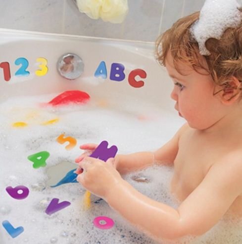 Alphanumeric Letter & Number Baby Bath Toy (36 pieces per set)