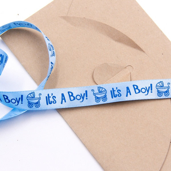 10 Yards It's A Boy/Girl Satin Ribbon