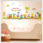 Animal Train Wall Sticker