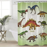 Prehistoric Dinosaur Collection Shower Curtain