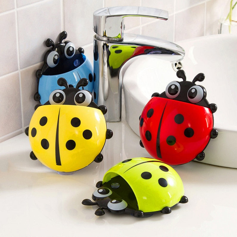 Unique Ladybug Toothbrush/Toothpaste Holder (4 colors available)
