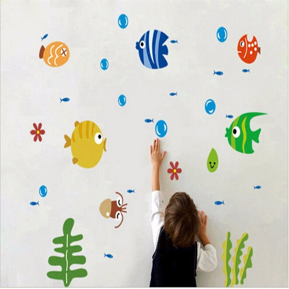 Underwater Sticker Set for the Bathroom