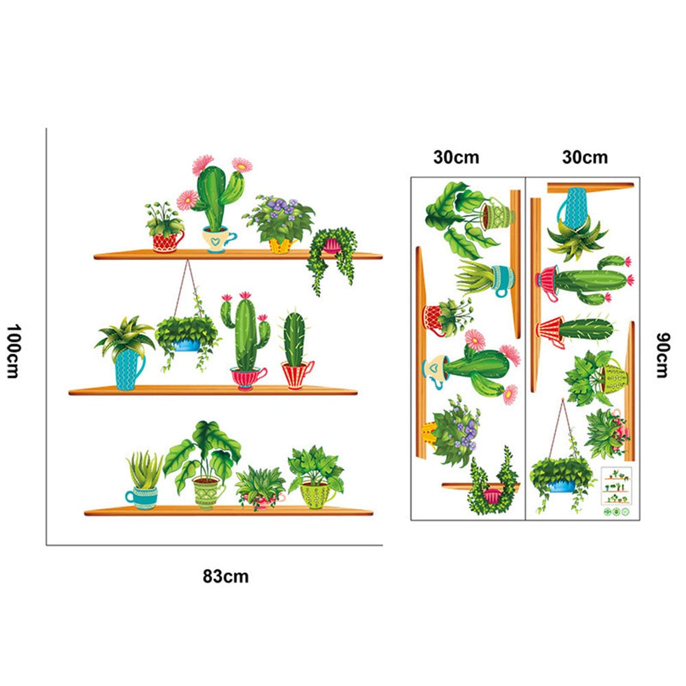 Green Plants Wall Stickers