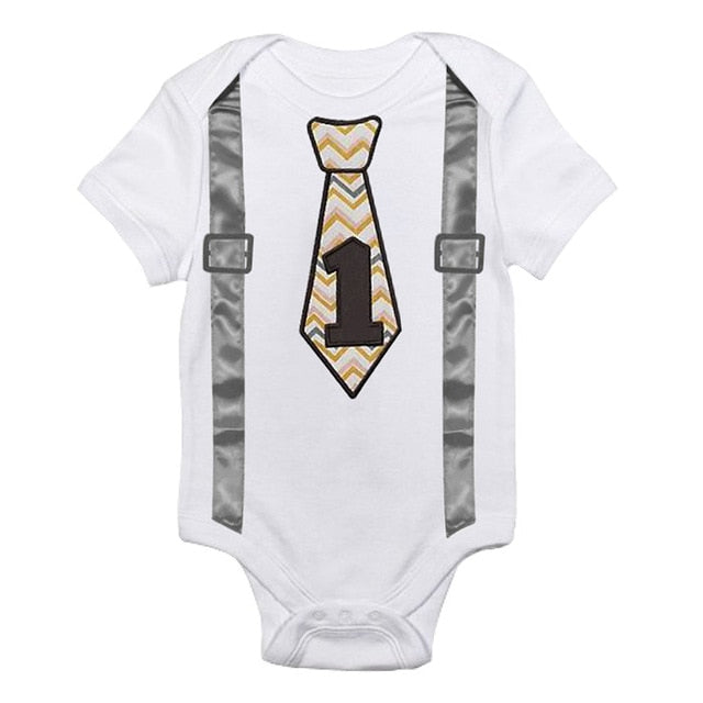 Baby Boy Romper for First Birthday (9 styles available)