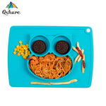 Silicone Suction Owl Placemat Plate for Children (8 colors available)