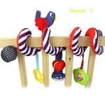 Soft Infant Crib Bed Stroller Toy Spiral Animals (multiple styles & items)