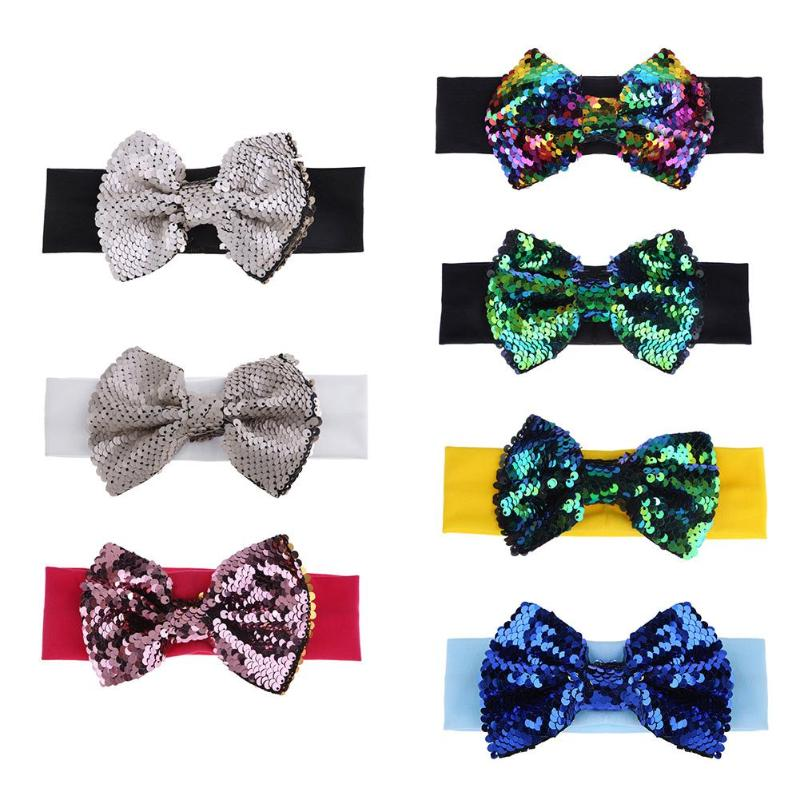 Sequins Bowknot Hairpin Girls Hair Clip
