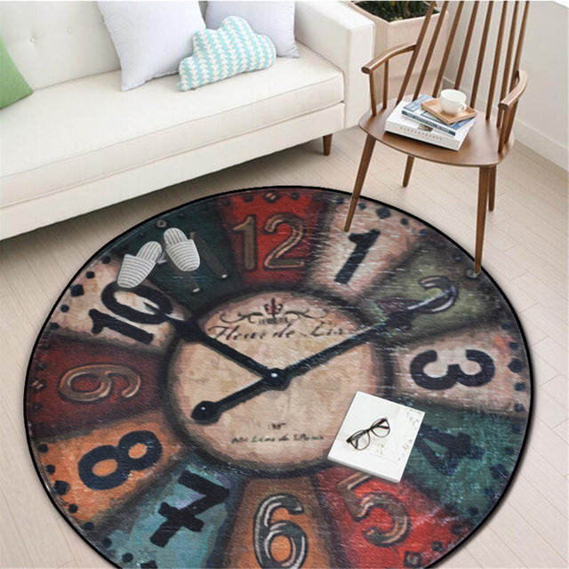 Wall Clock Baby Mat