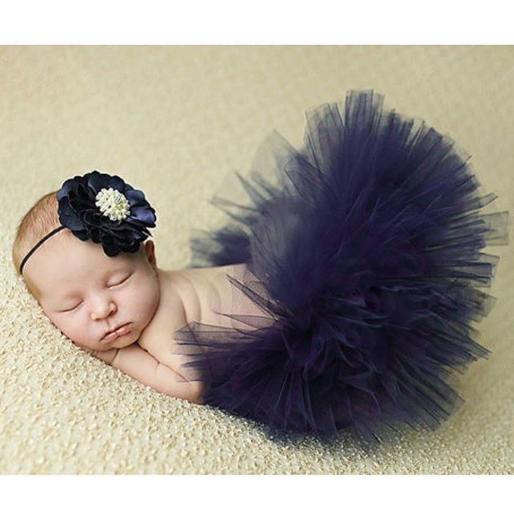 Flower Tire Girls Dress for Baby Photos
