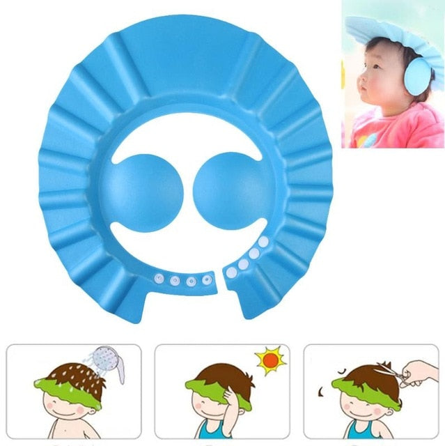 Adjustable Shower Hat - Protects Eyes and Ears