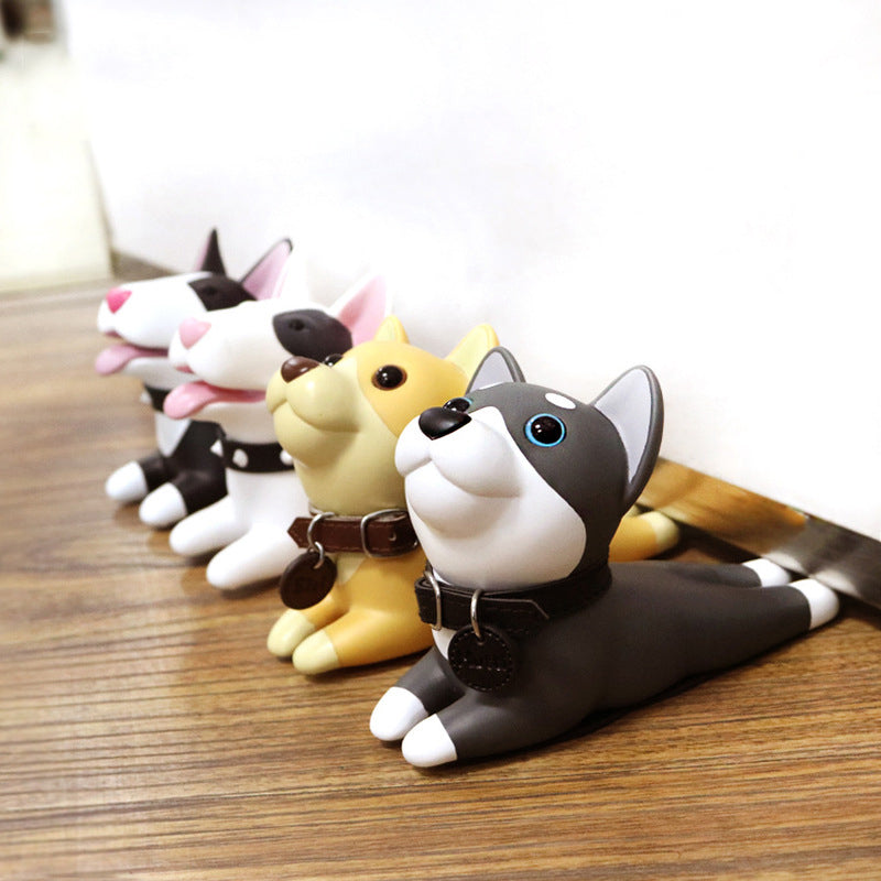 Cute Door Stops - Silicone Baby Door Stopper For Kids Room (Dog or Cat, multiple styles)
