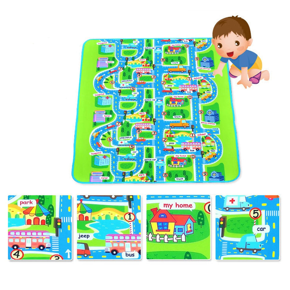 Streets Through the Town Baby Mat