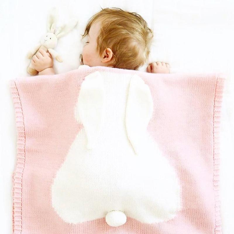 Cute Baby Rabbit Blanket Photo Prop