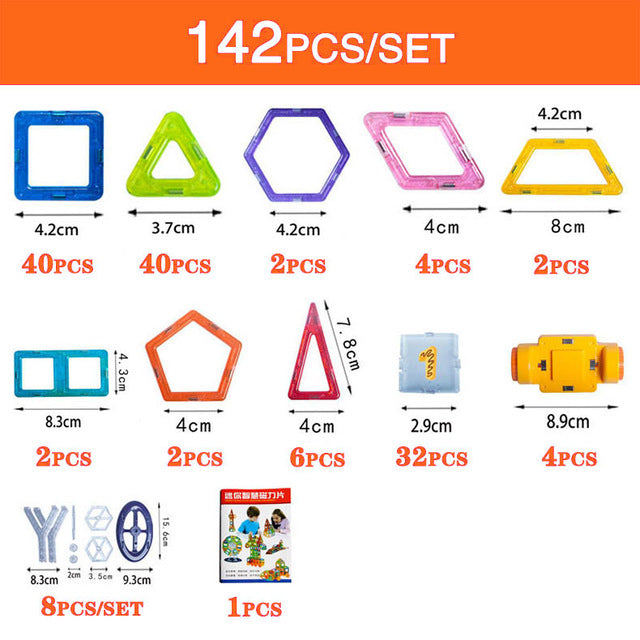 Mini Magnetic Designer Construction Set (110/128/142/184 piece sets available)