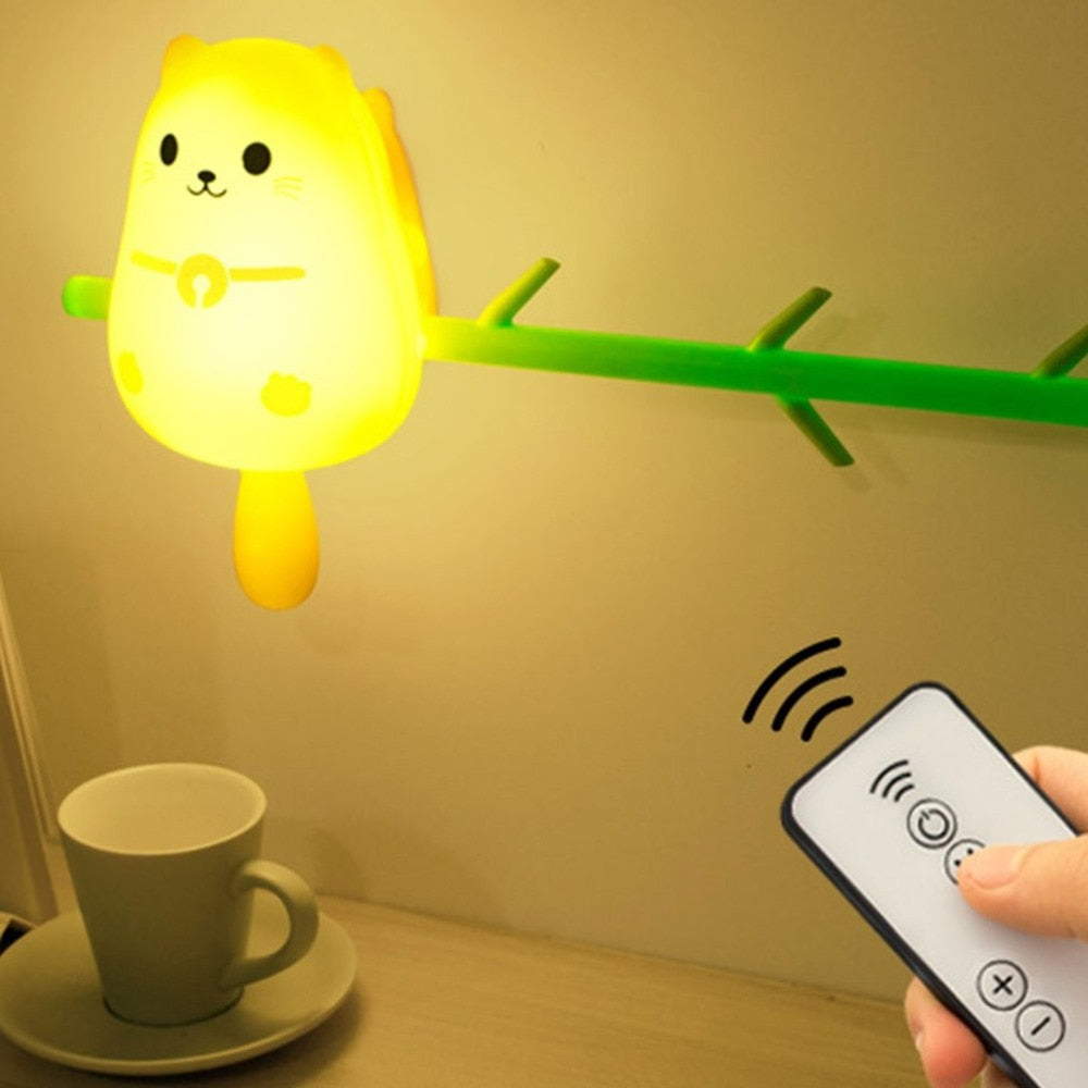 Remote Control Hanging Animal Wall Light