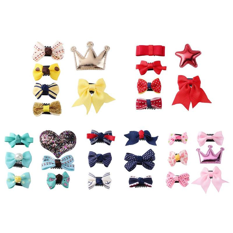 Cute Bowknot Barrettes Princess Party Hair Clip (6 pieces per set)