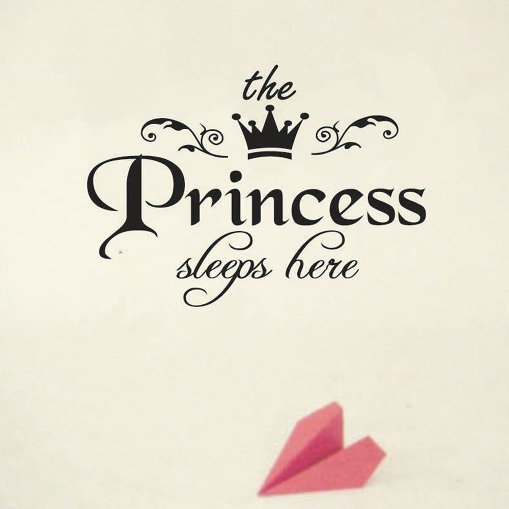 The Princess Sleeps Here Wall Sticker