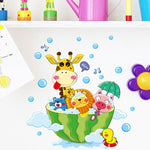 Animals Taking a Bath Wall Sticker