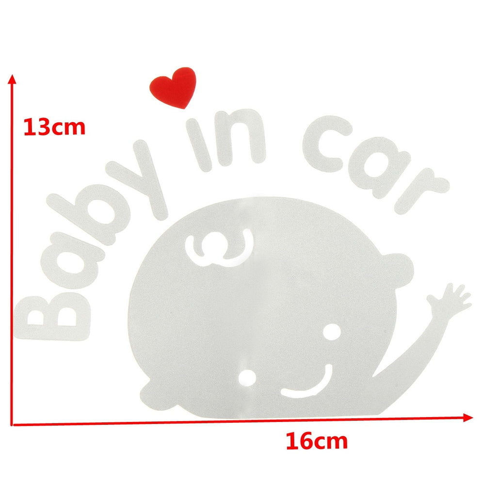 Baby In Car Waving Baby on Board Safety Sign Car Sticker