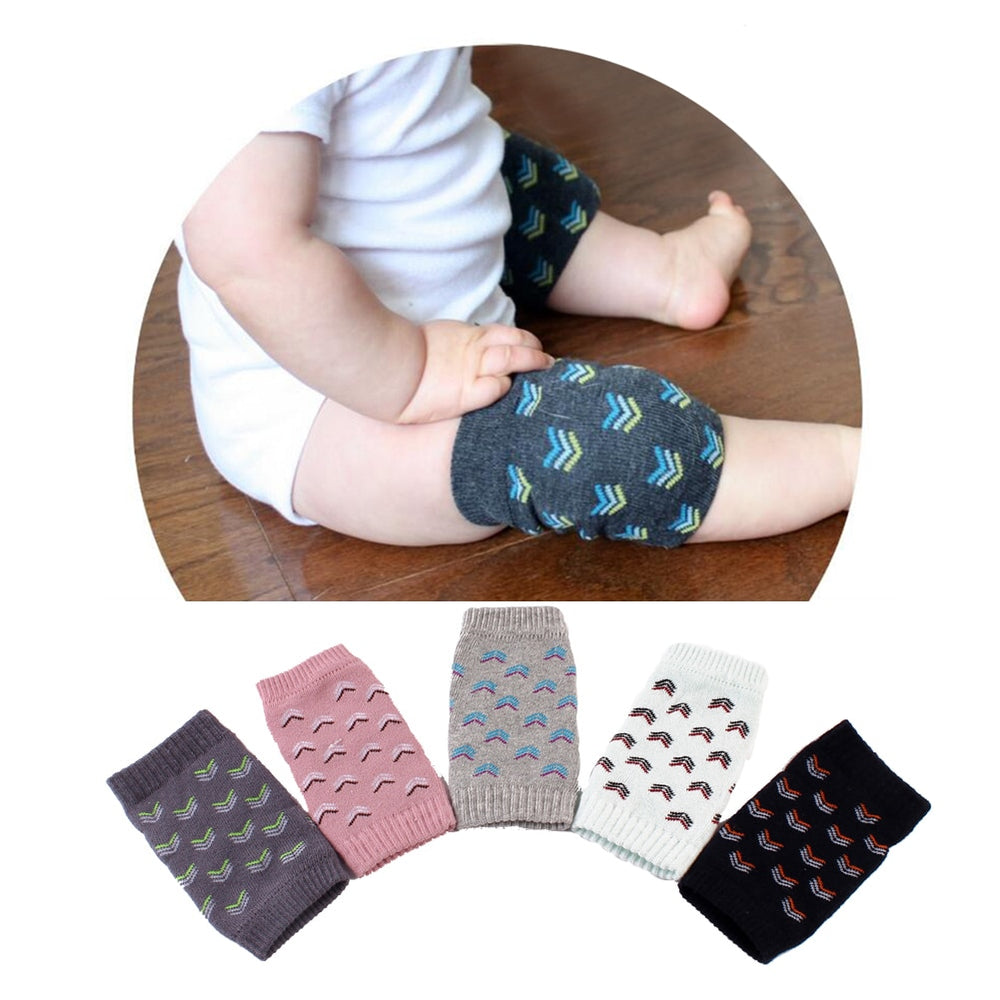 Cotton Print Baby Knee Pads