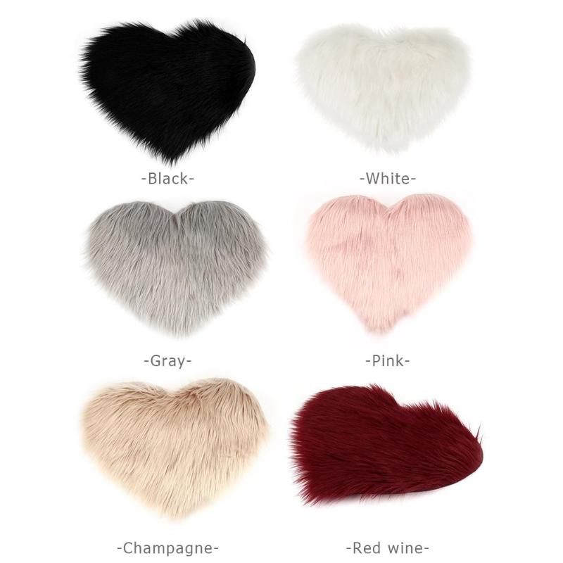 Shaggy Heart Accent Rug (6 colors available)