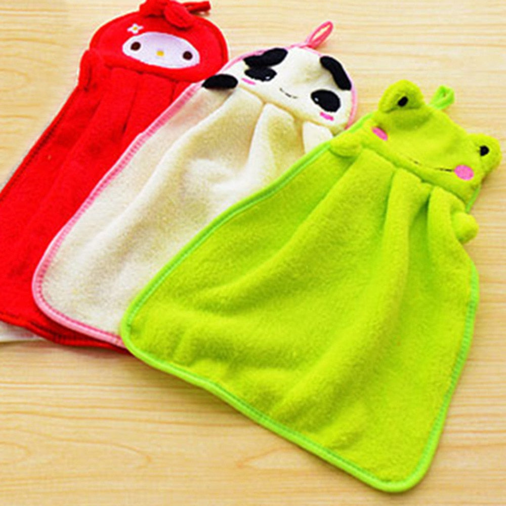 Soft Baby Hand Towel with Hanging Tag (18 options available)