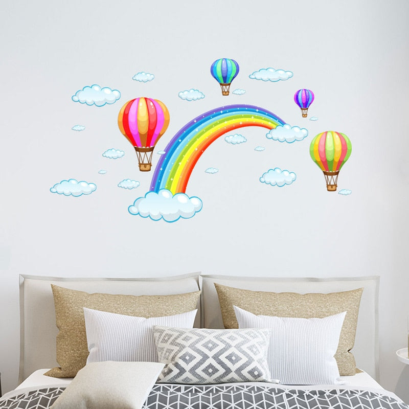 Hot Air Balloons & Rainbow Wall Sticker