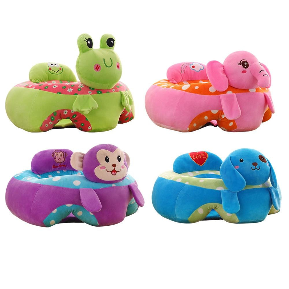 Colorful Plush Baby Learning Sitting Seat