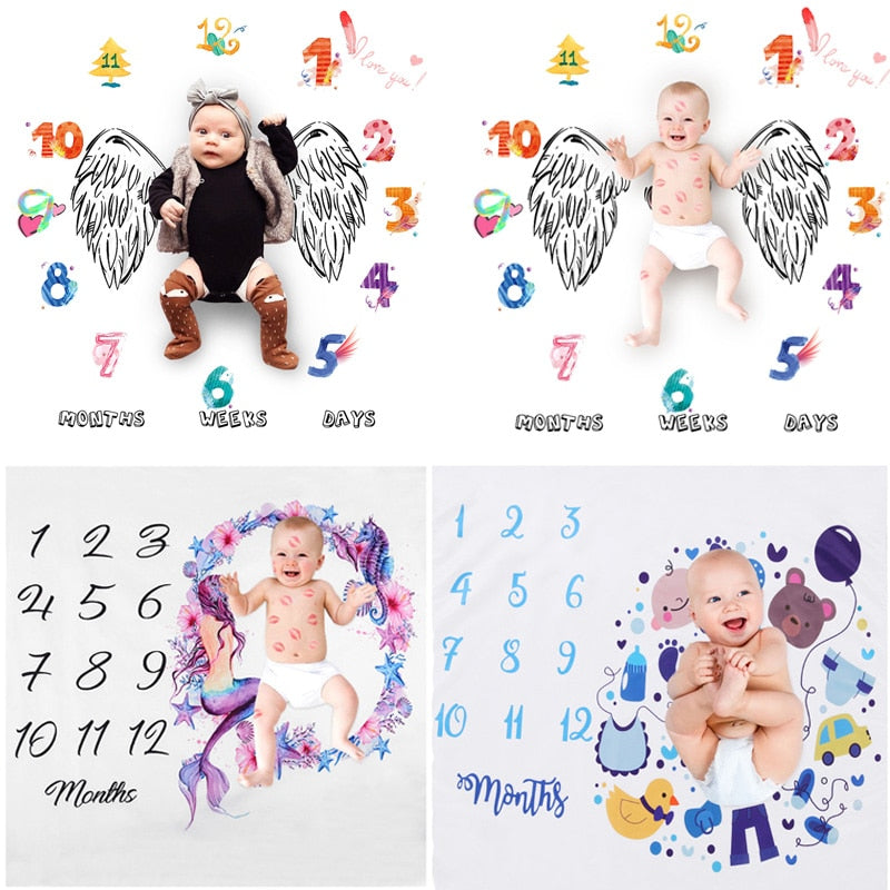 Newborn Baby Photography Prop Cloth Blanket (multiple styles)