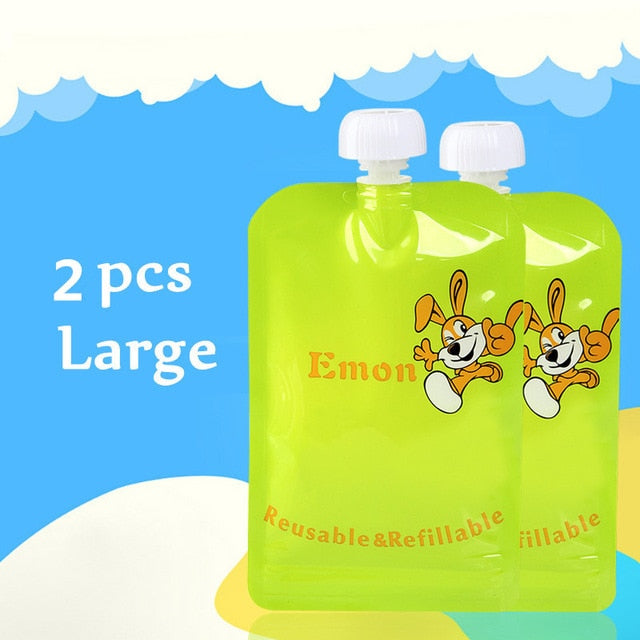Reusable Baby Food Storage Pouches - Easy to Clean (different sizes available)