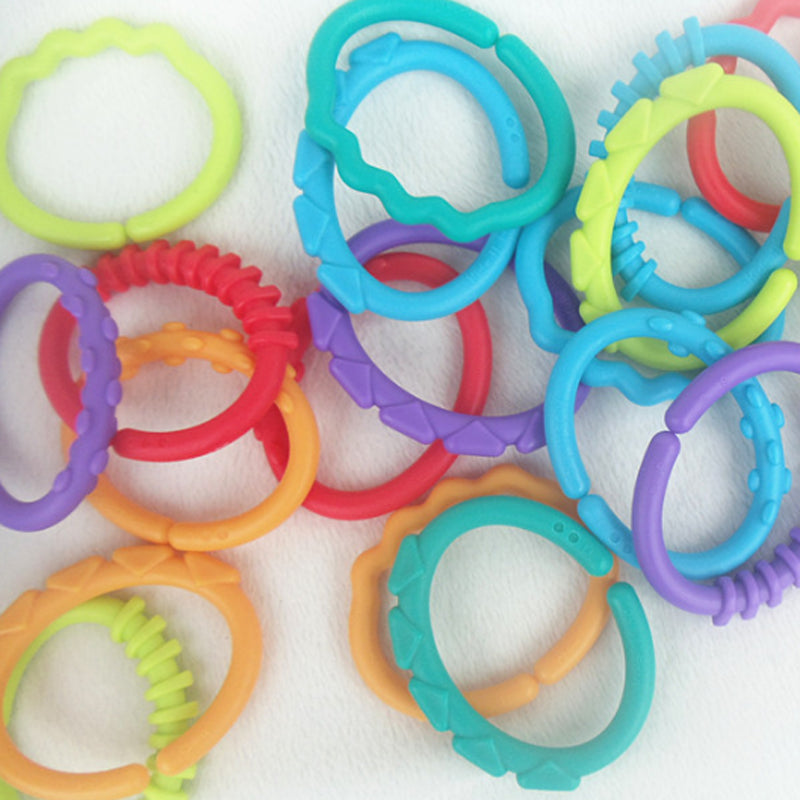 Plastic Grip Baby Teether (Set of 8)