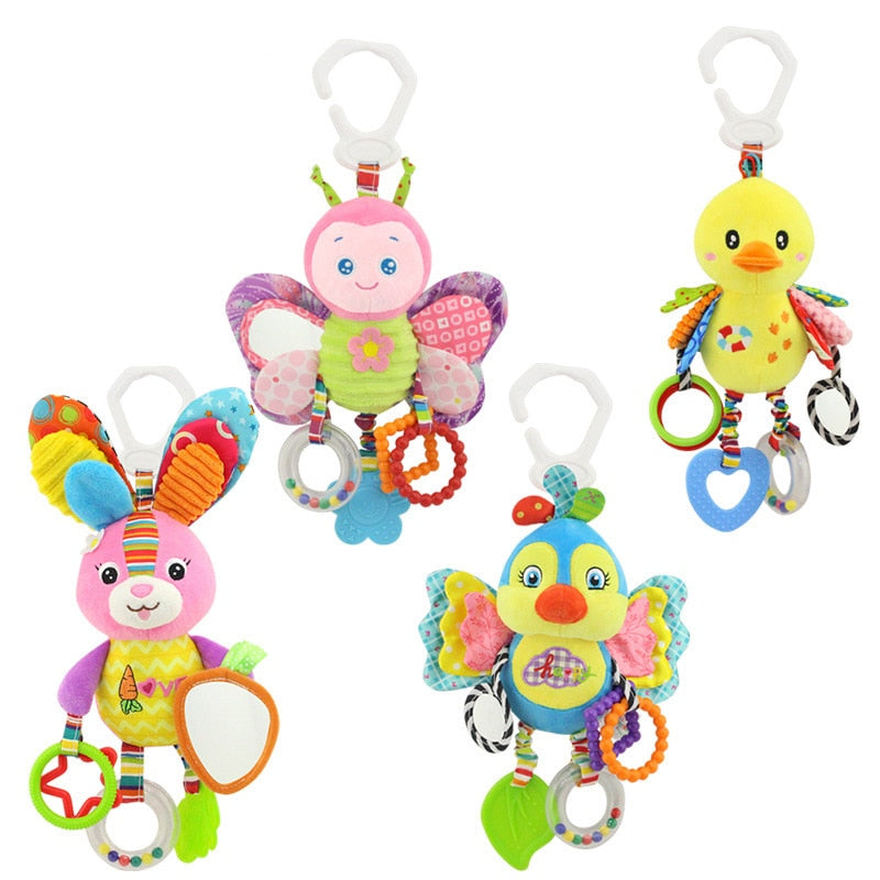 Baby Stroller or Car Seat Hanging Cute Animal Doll