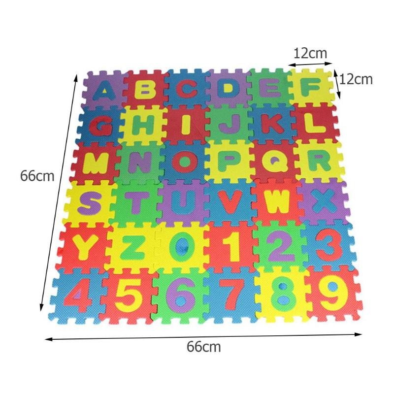 Letters Numbers Puzzle Pad (36 piece set)