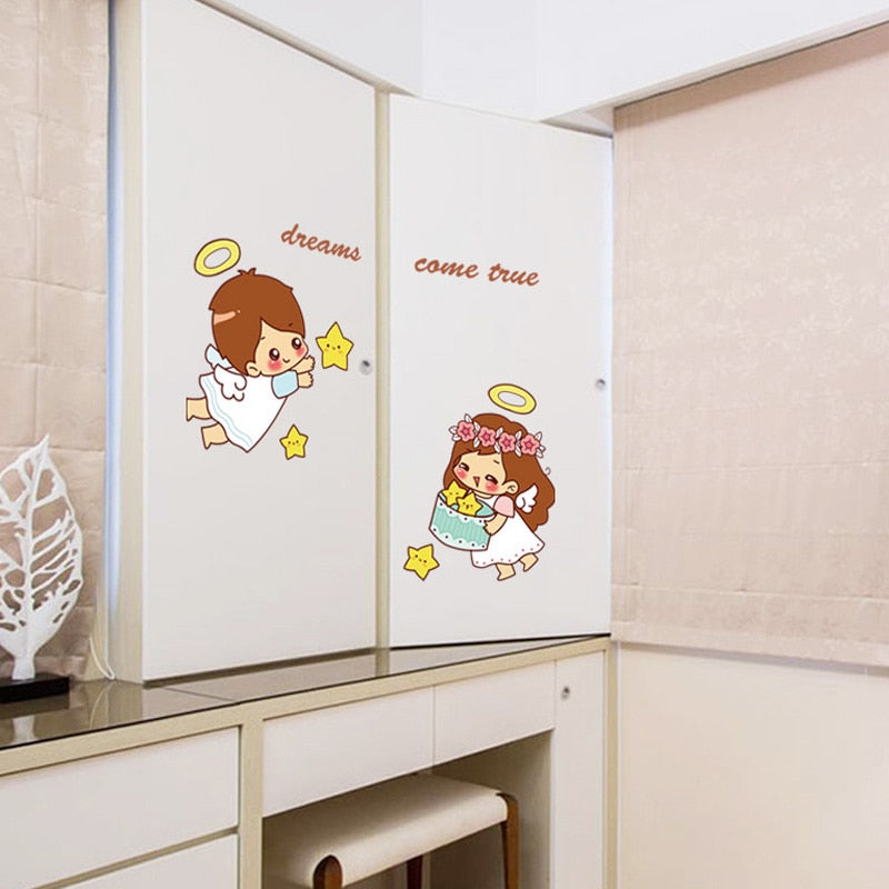 Dreams Come True Angels Wall Stickers